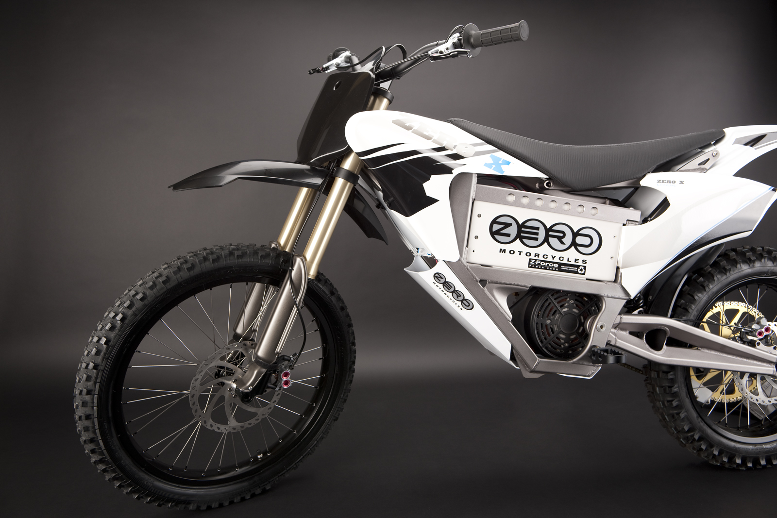 '.2010 Zero X Electric Motorcycle: Handlebars.'