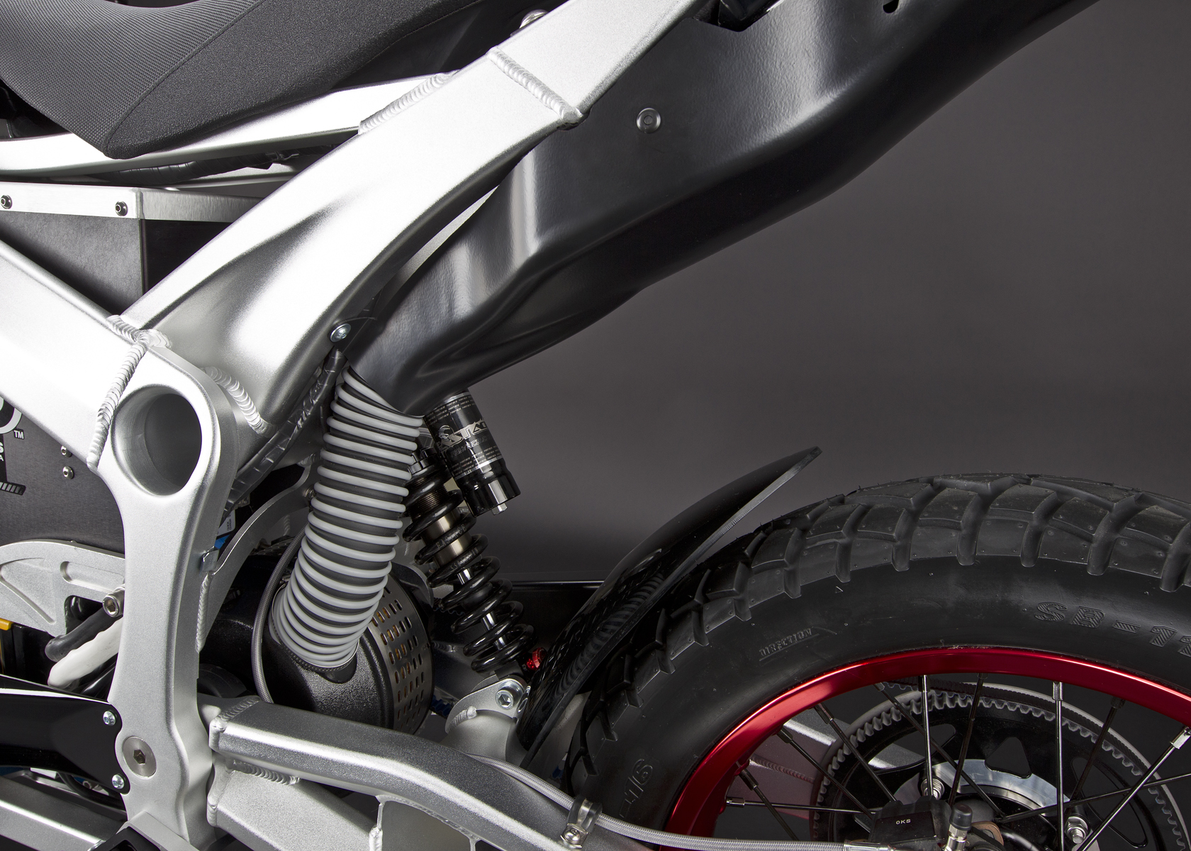 '.2011 Zero DS Electric Motorcycle: Air Induction.'
