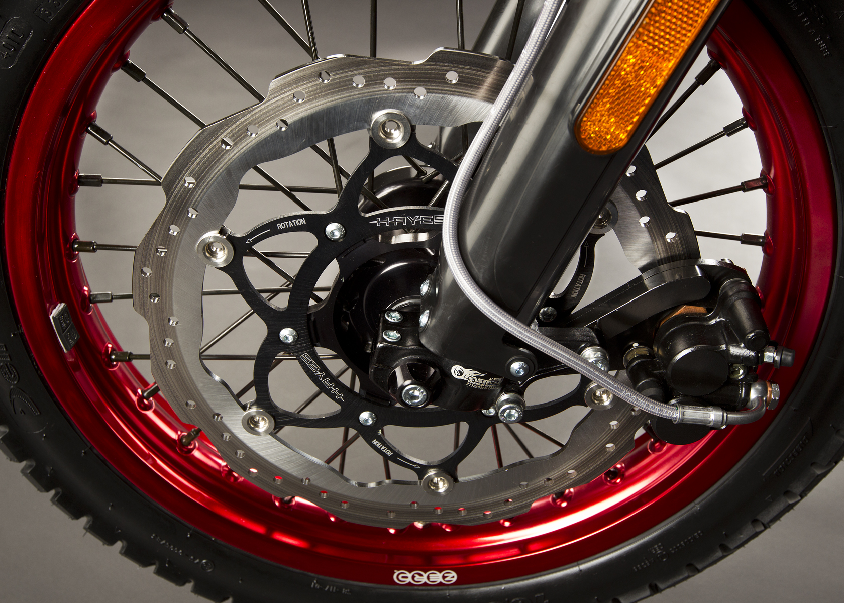'.2011 Zero DS Electric Motorcycle: Brake.'