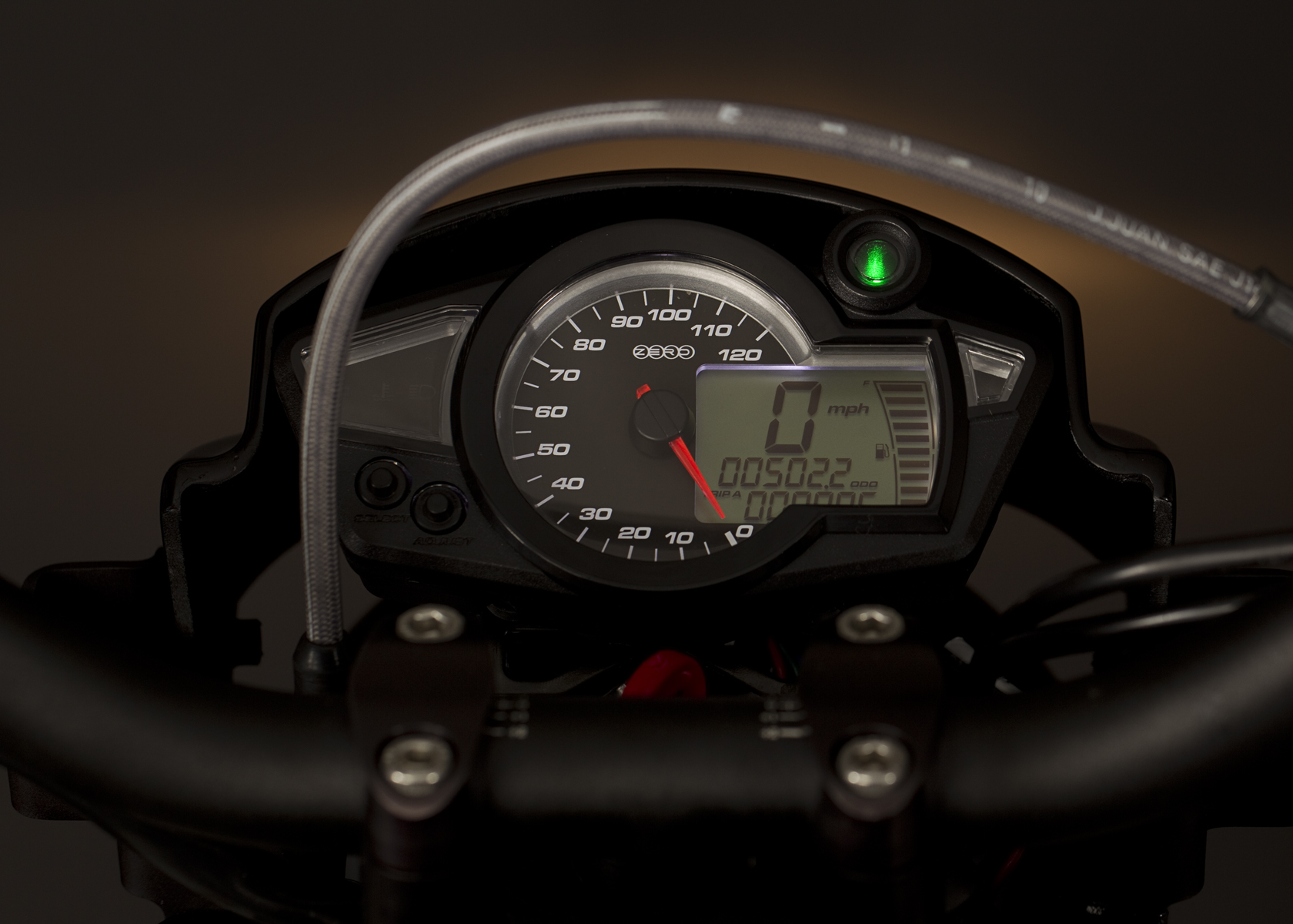 '.2011 Zero DS Electric Motorcycle: Gauge.'
