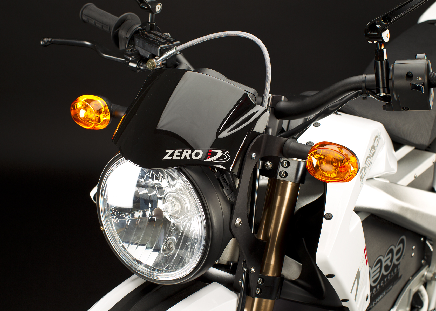 '.2011 Zero DS Electric Motorcycle: Headlight.'