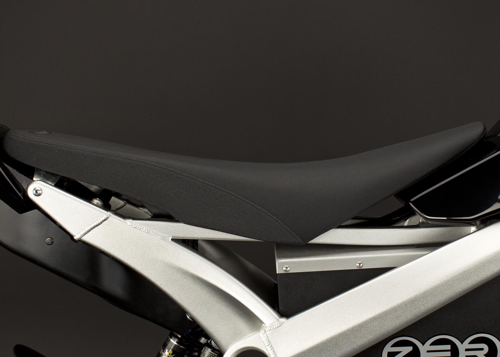 '.2011 Zero DS Electric Motorcycle: Seat.'