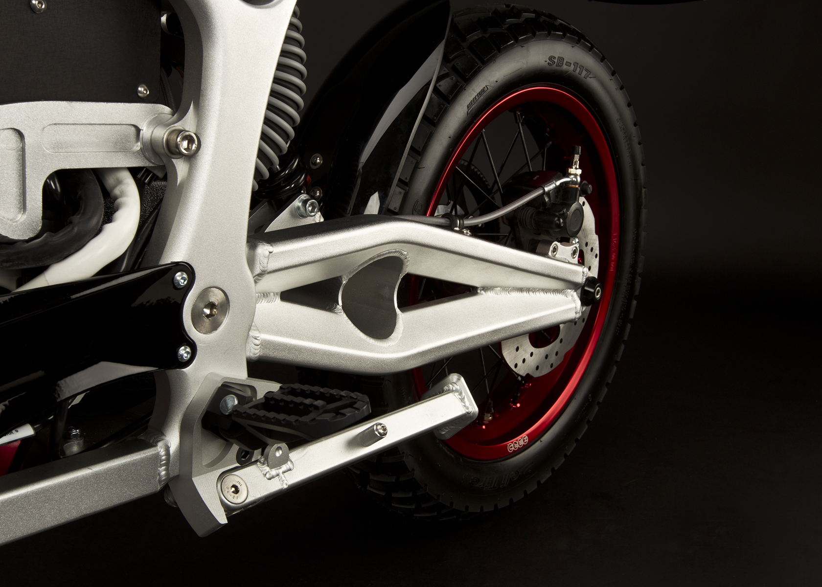 '.2011 Zero DS Electric Motorcycle: Swingarm.'