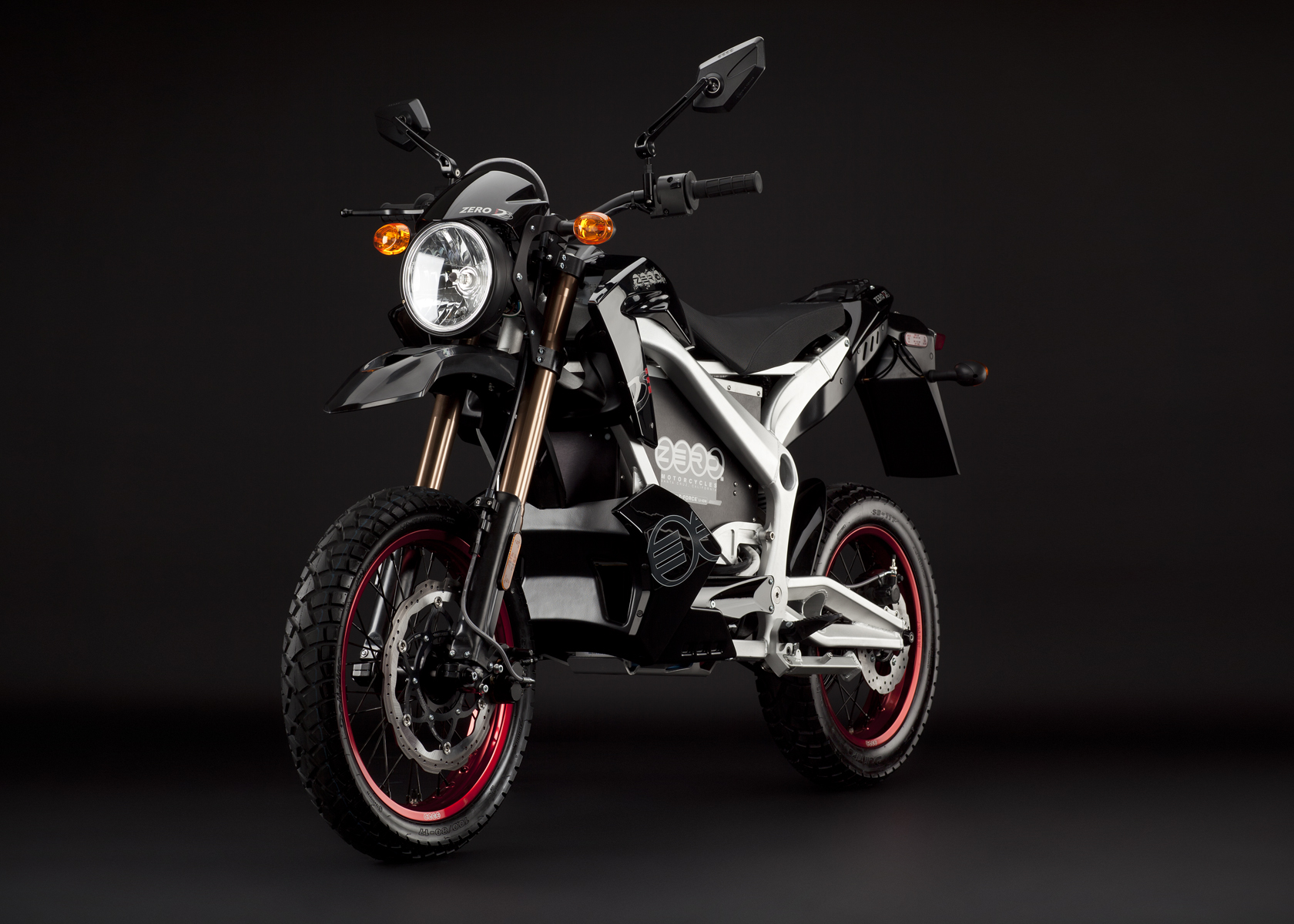 '.2011 Zero DS Electric Motorcycle: Black Angle Left.'