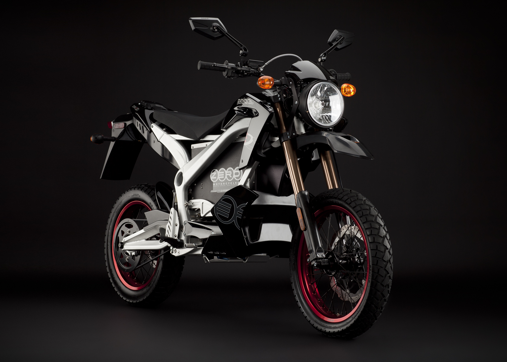 '.2011 Zero DS Electric Motorcycle: Black Angle Right.'