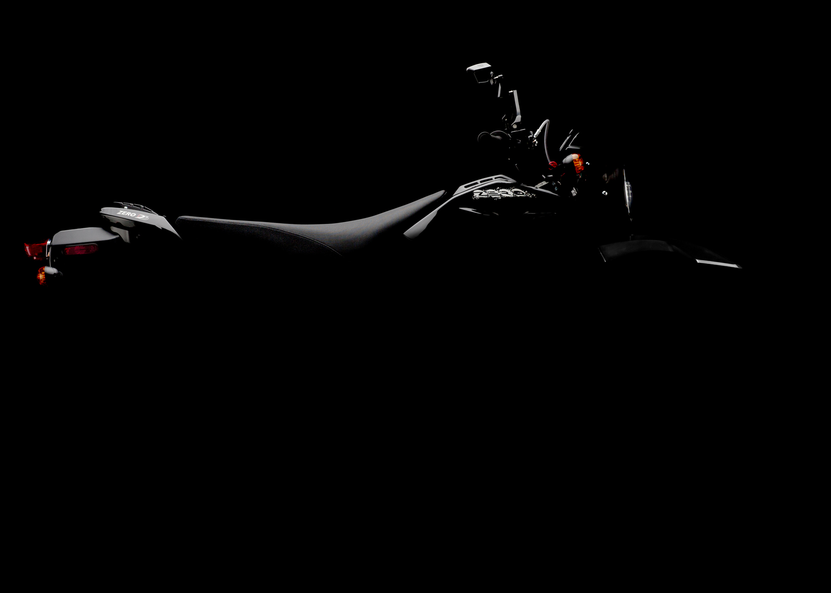 '.2011 Zero DS Electric Motorcycle: Silhouette.'