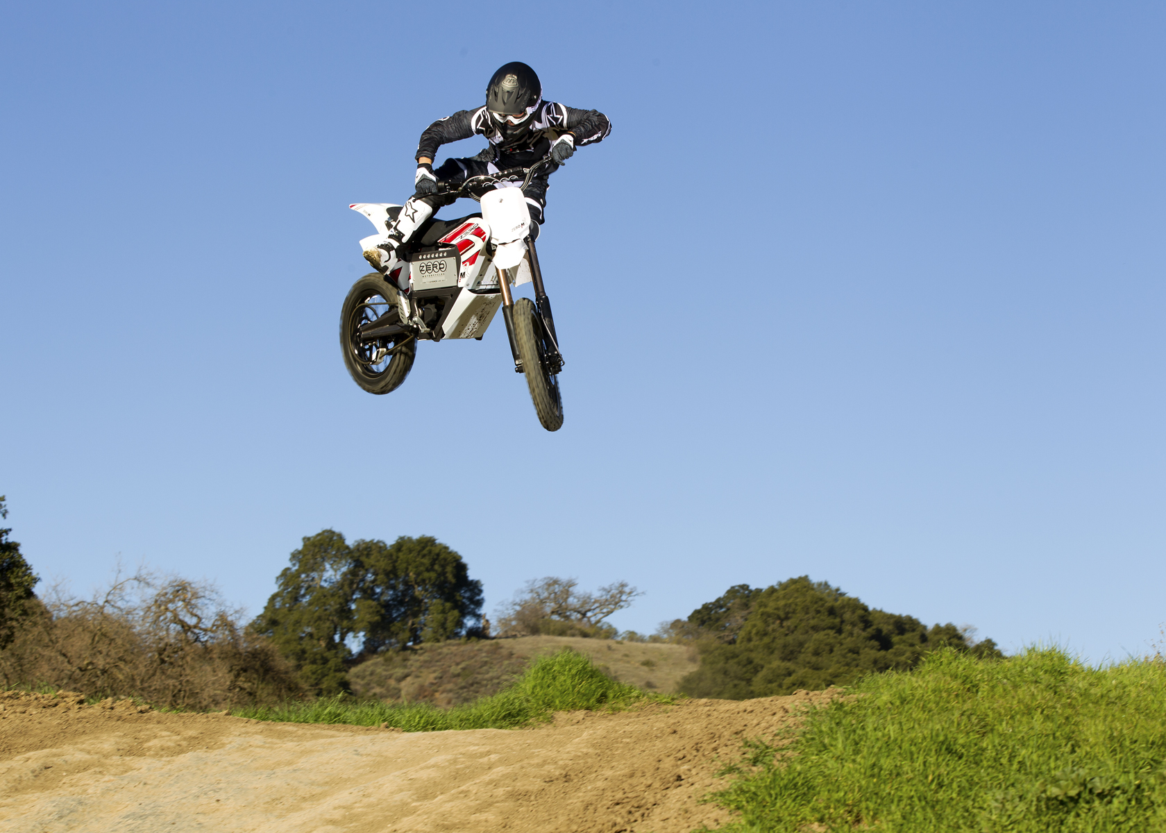 2011 Zero MX Electric Motorcycle: High Jump