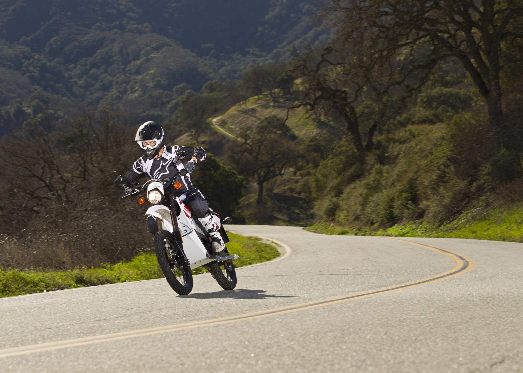 '.2011 Zero MX Electric Motorcycle: Cruising in the Country.'