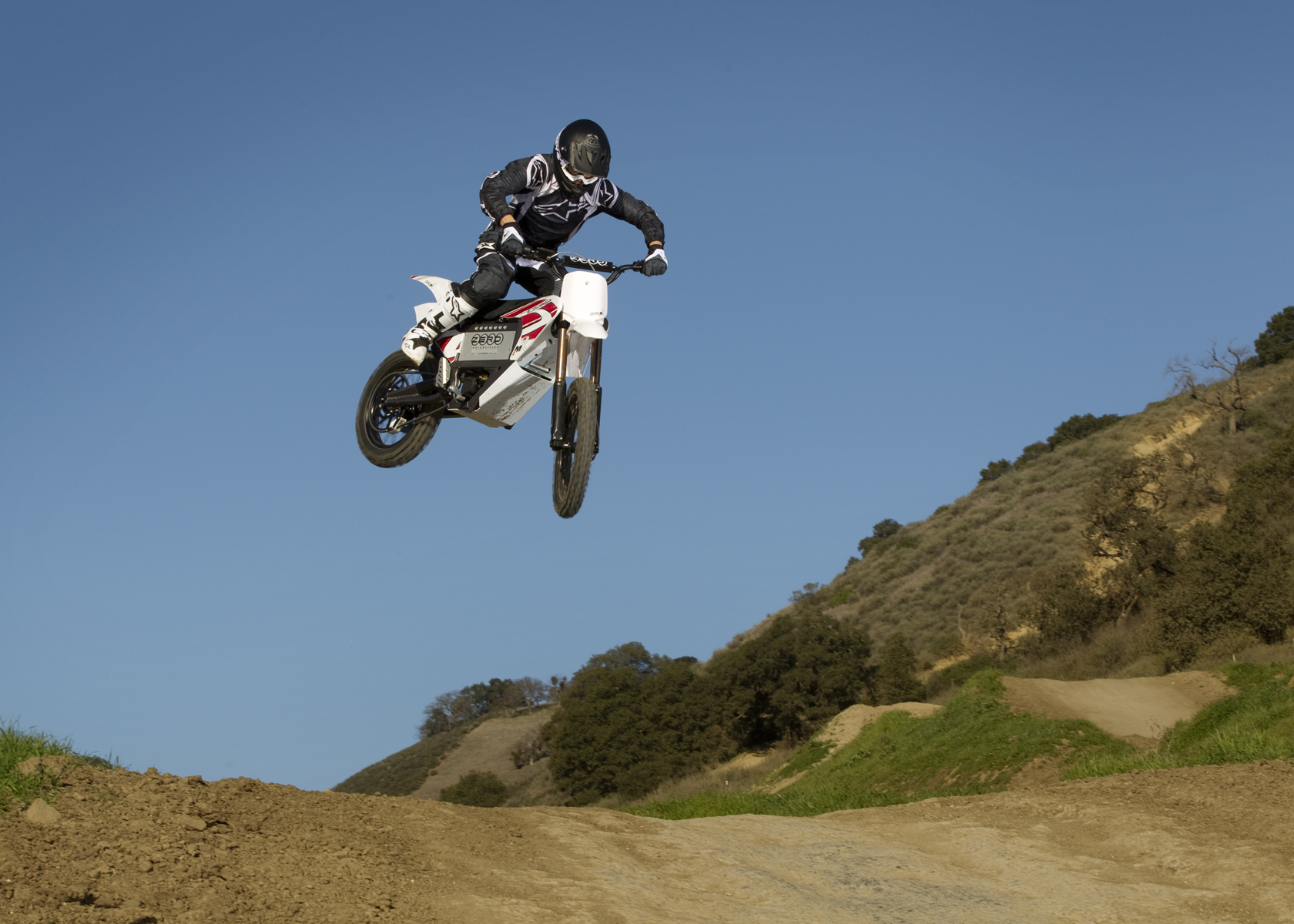 '.2011 Zero MX Electric Motorcycle: High Jump.'