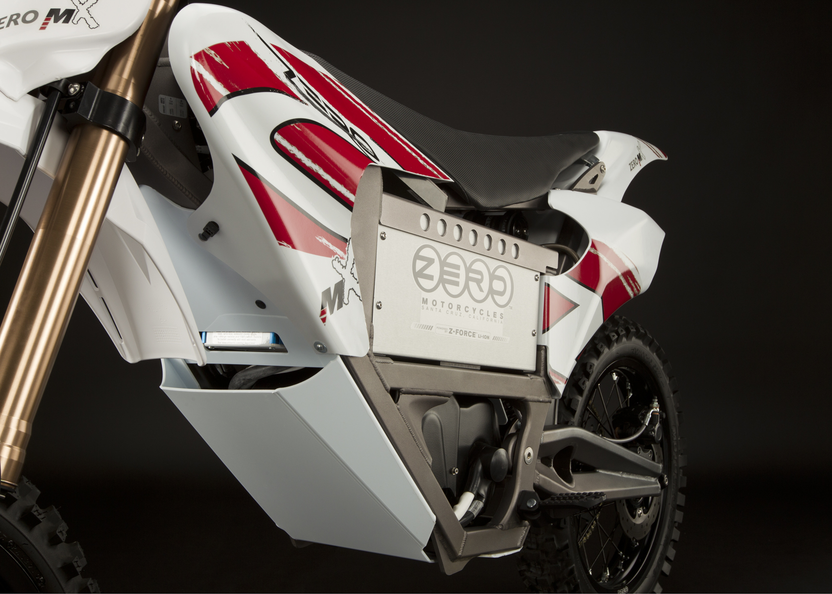 '.2011 Zero MX Electric Motorcycle: Battery.'