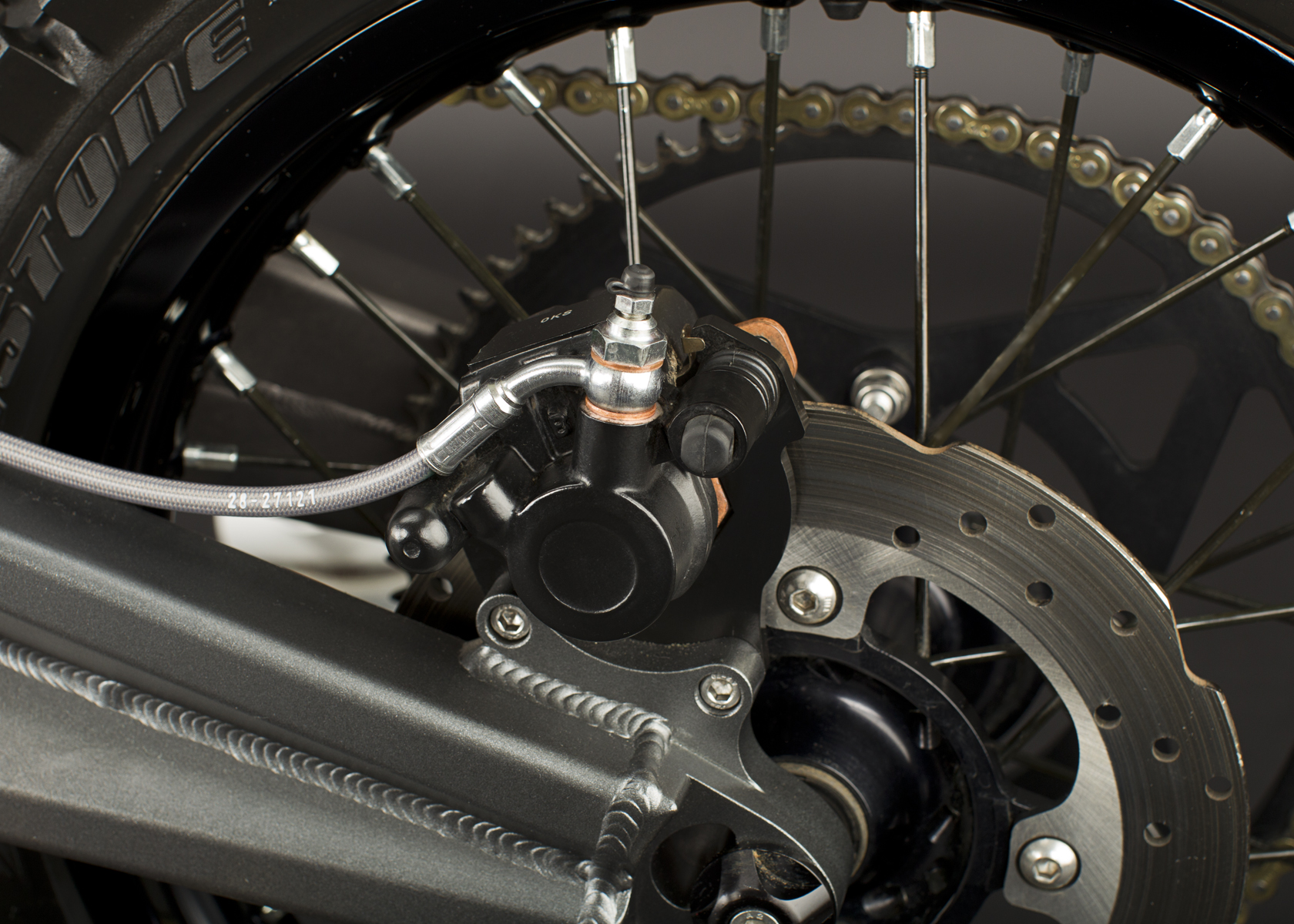 2011 Zero MX Electric Motorcycle: Back Brake