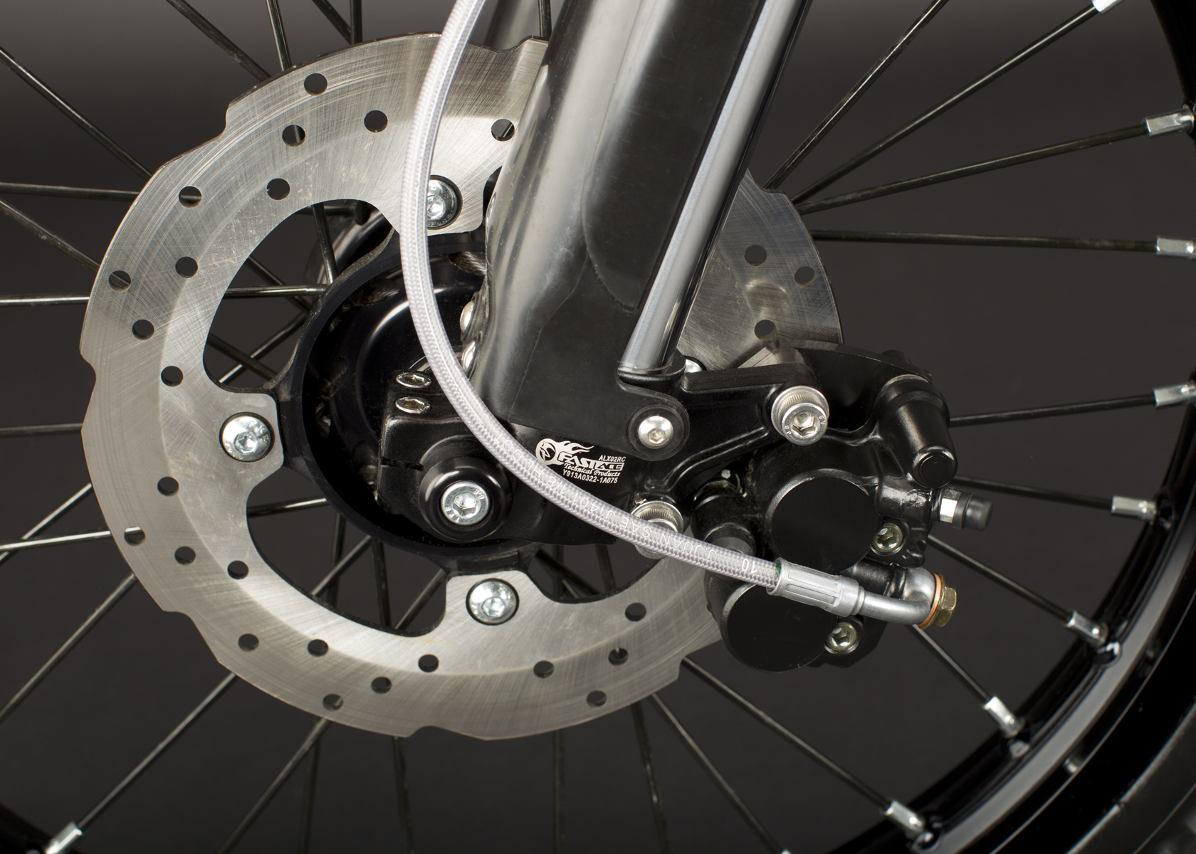 '.2011 Zero MX Electric Motorcycle: Front Brake.'