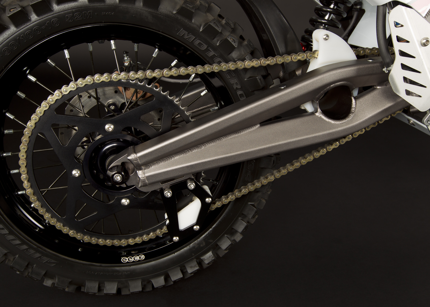 '.2011 Zero MX Electric Motorcycle: Swingarm.'