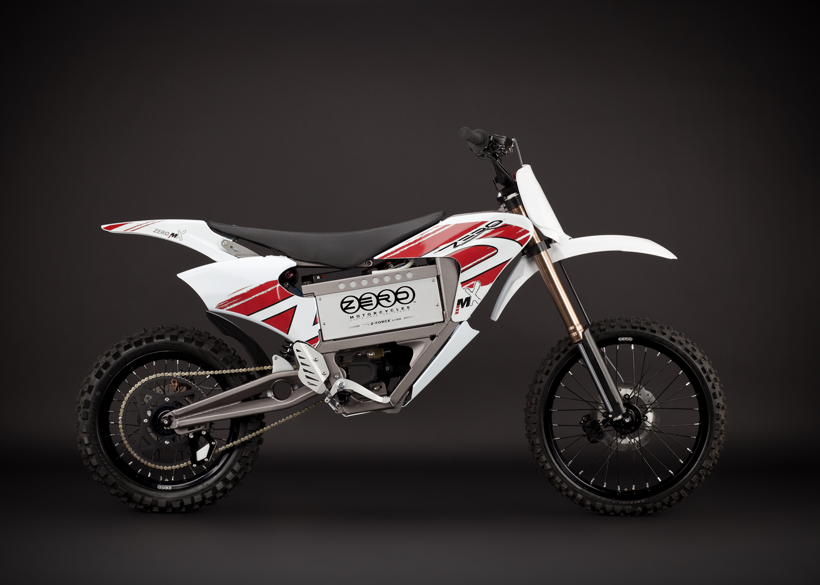 '.2011 Zero MX Electric Motorcycle: Right Profile, Dirt Model.'