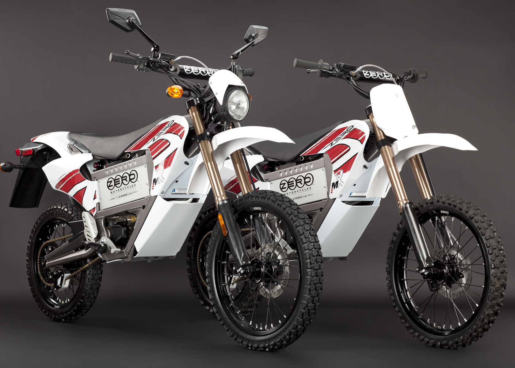 '.2011 Zero MX Electric Motorcycle: Pair, Dirt and Street Legal Models.'