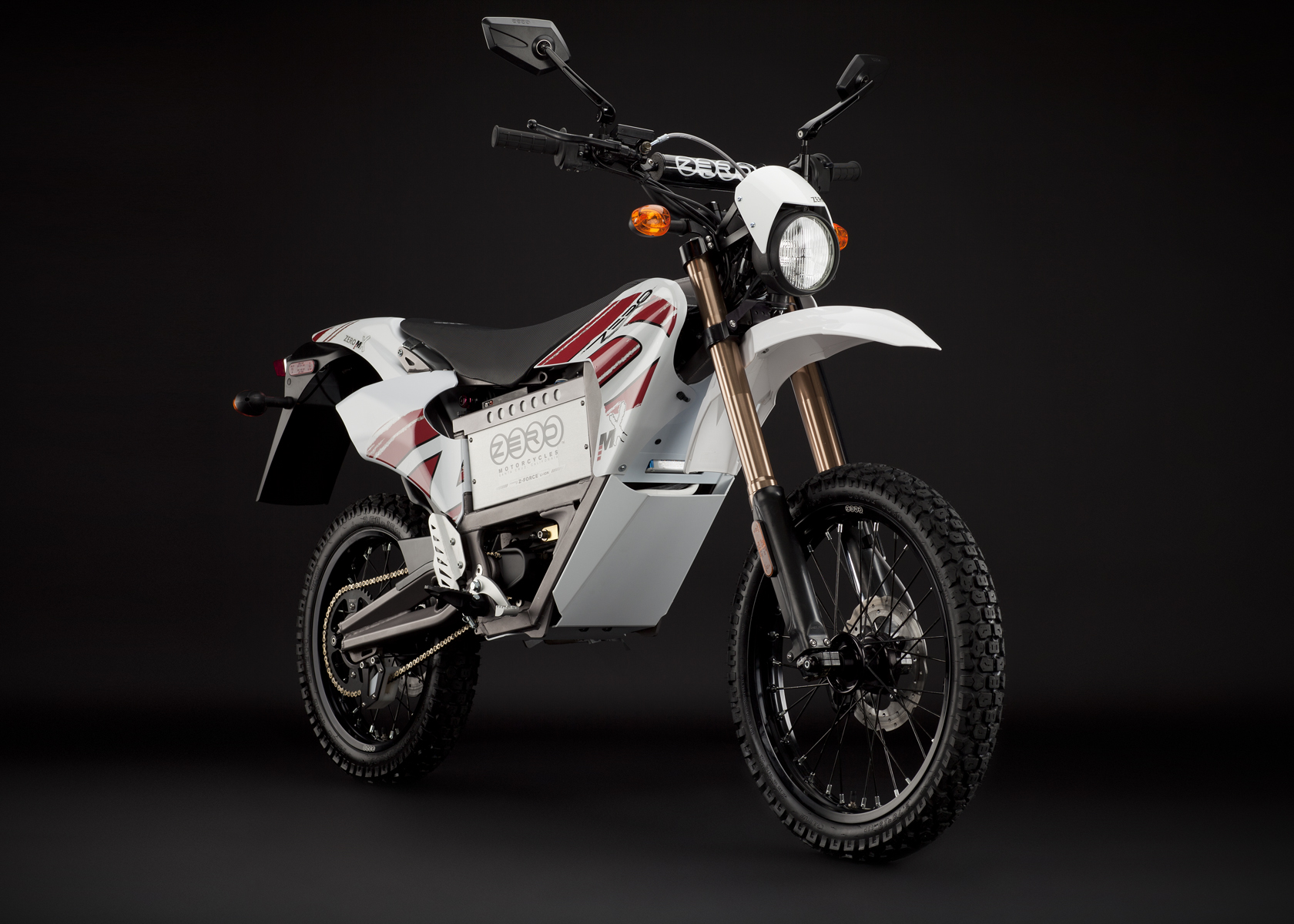 '.2011 Zero MX Electric Motorcycle: Right Angle, Street Legal Model.'