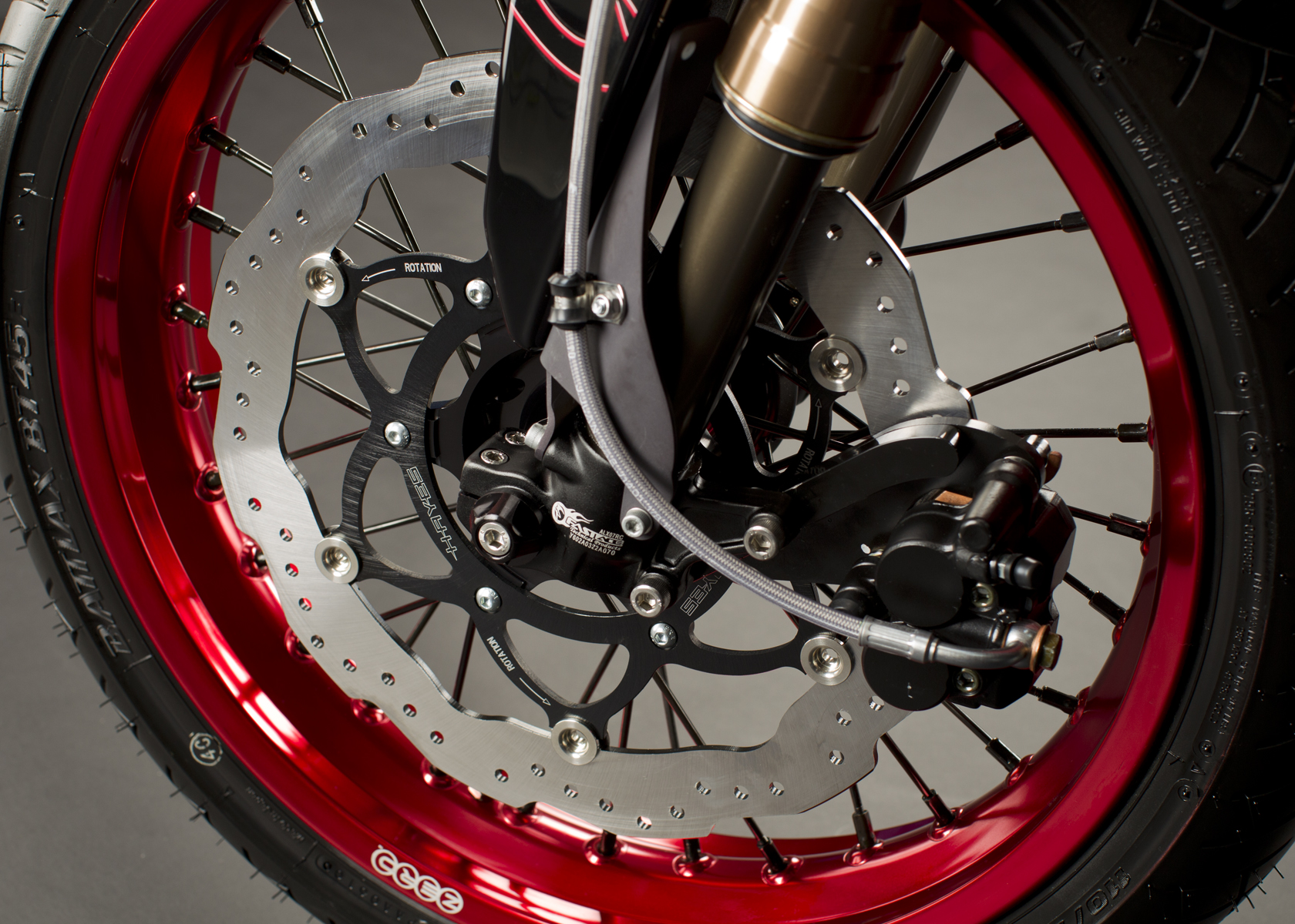'.2011 Zero S Electric Motorcycle: Front Brake.'
