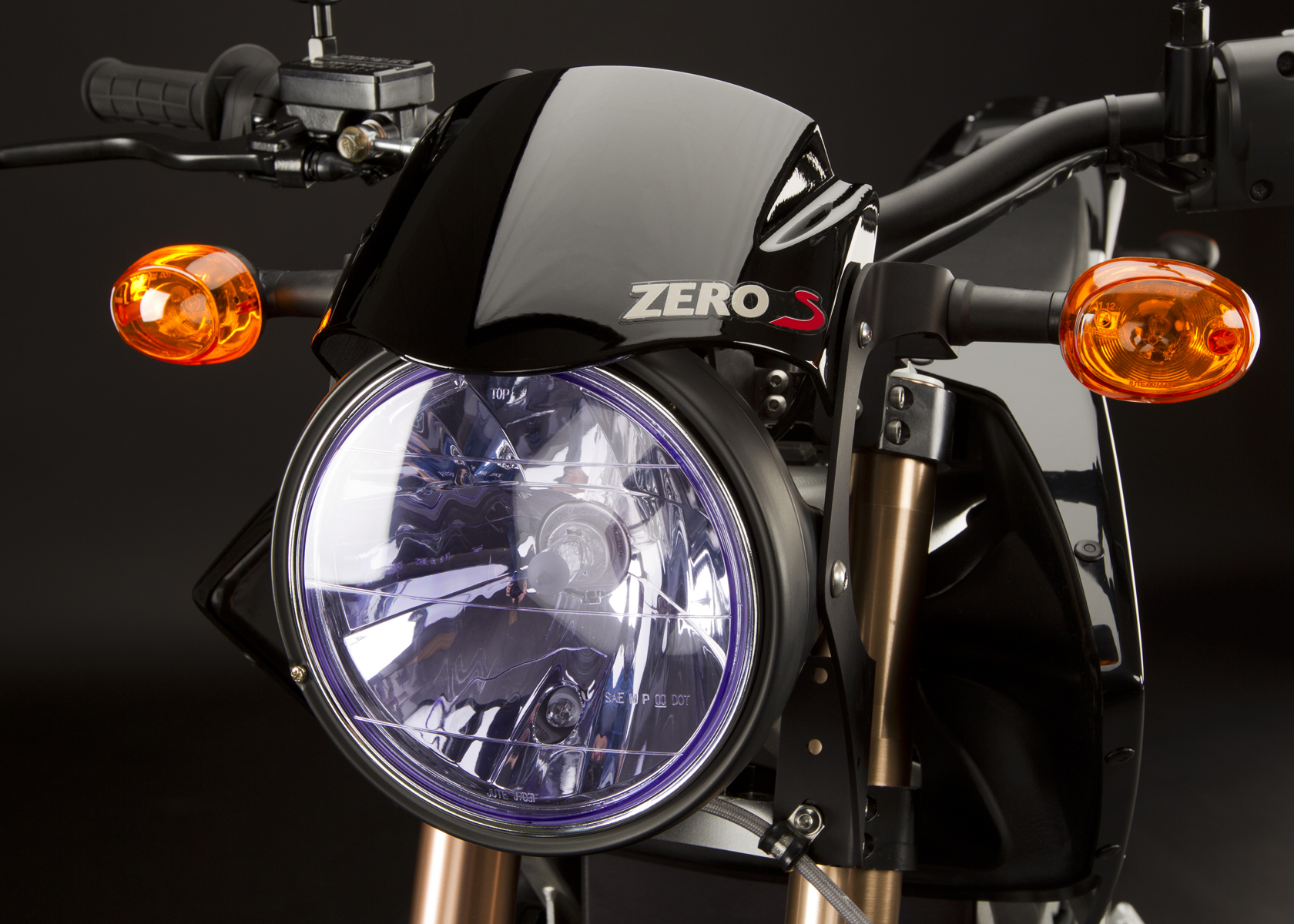 '.2011 Zero S Electric Motorcycle: Headlight.'