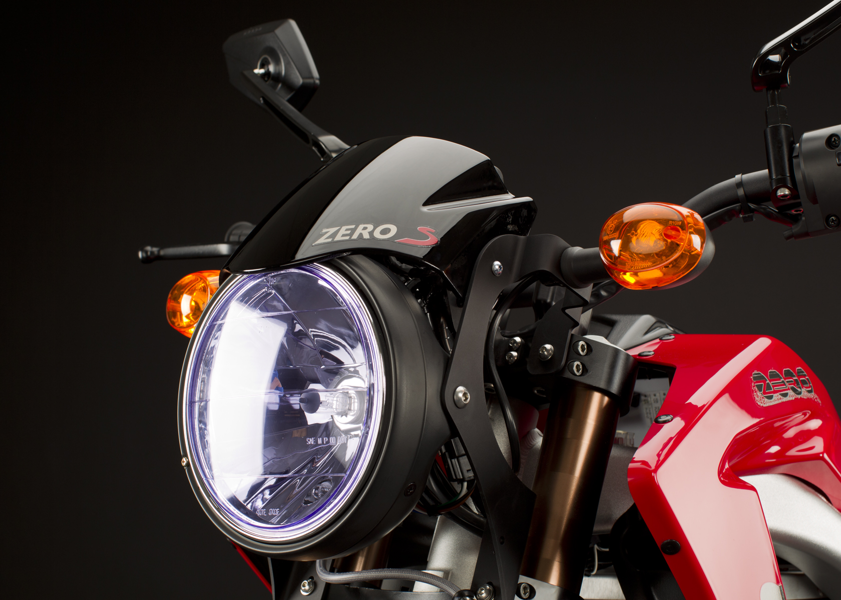 '.2011 Zero S Electric Motorcycle: Turn Signal.'