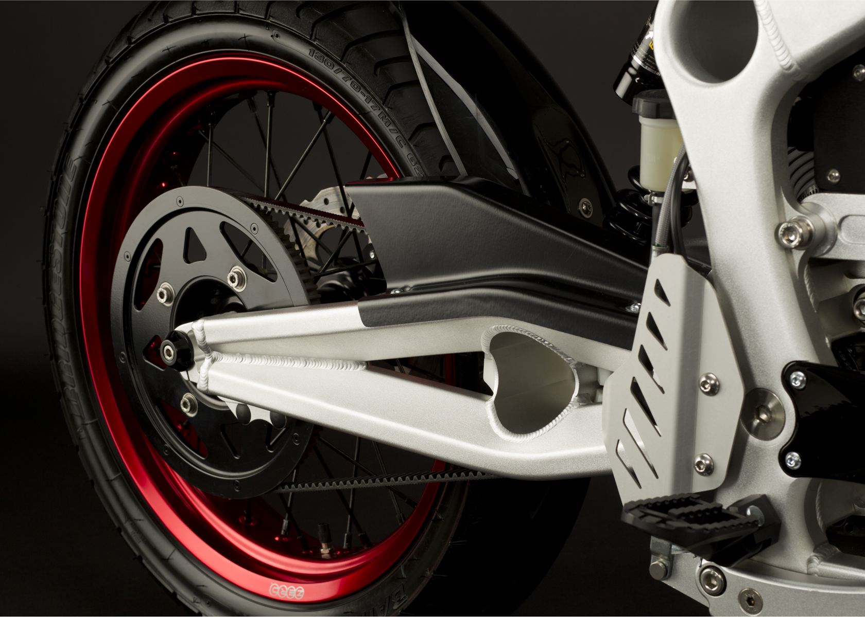 '.2011 Zero S Electric Motorcycle: Swing Arm.'