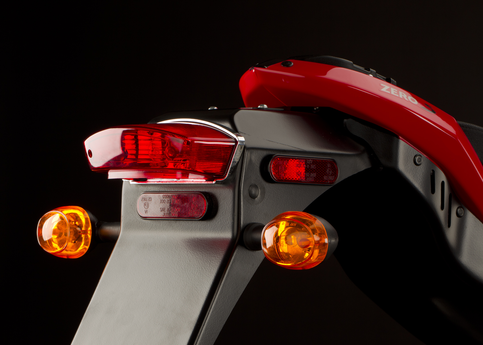 '.2011 Zero S Electric Motorcycle: Tail Lights.'