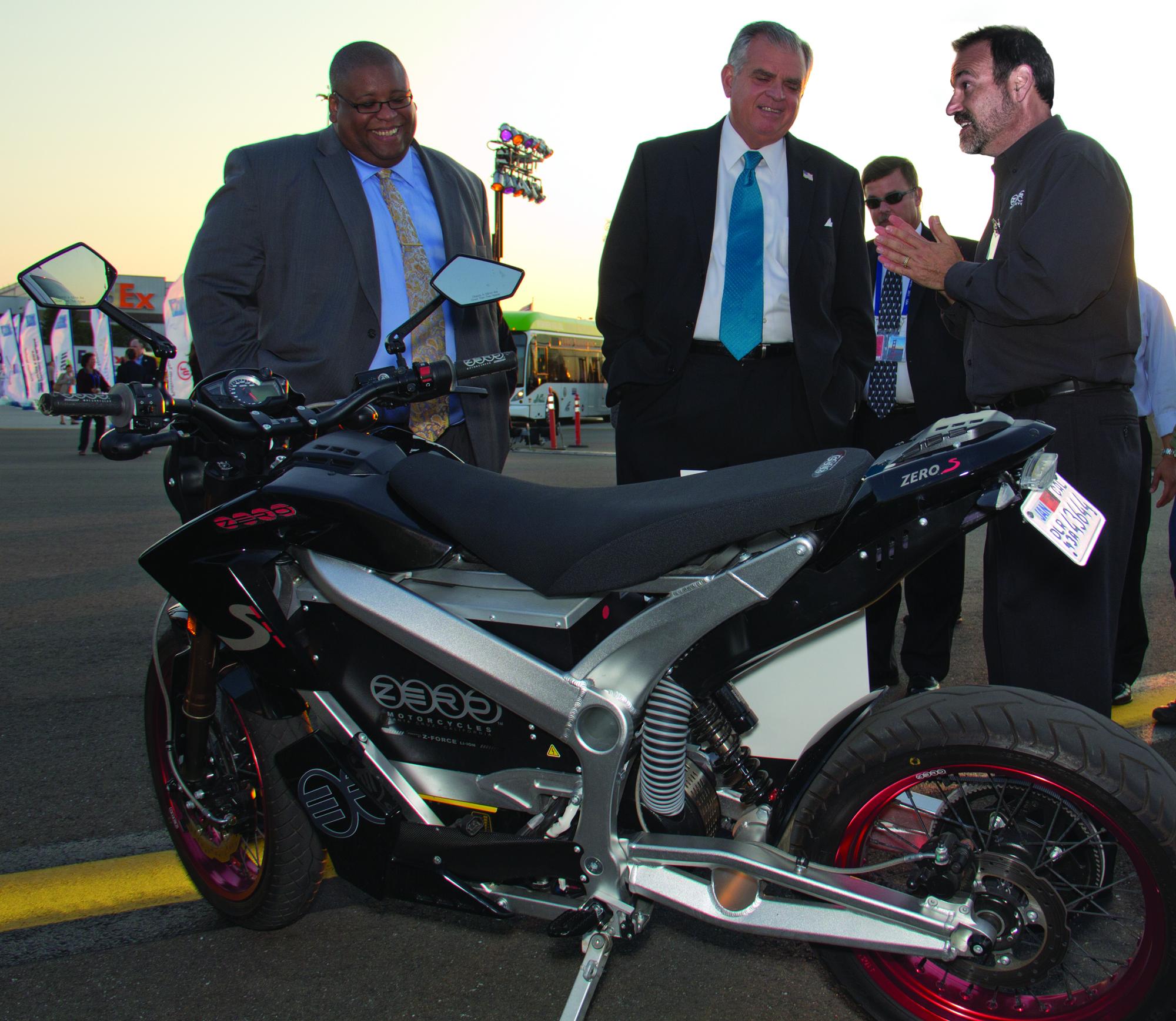 2011 - U.S. Secretary of Transportation Ray LaHood viewing Zero S Motorcycle