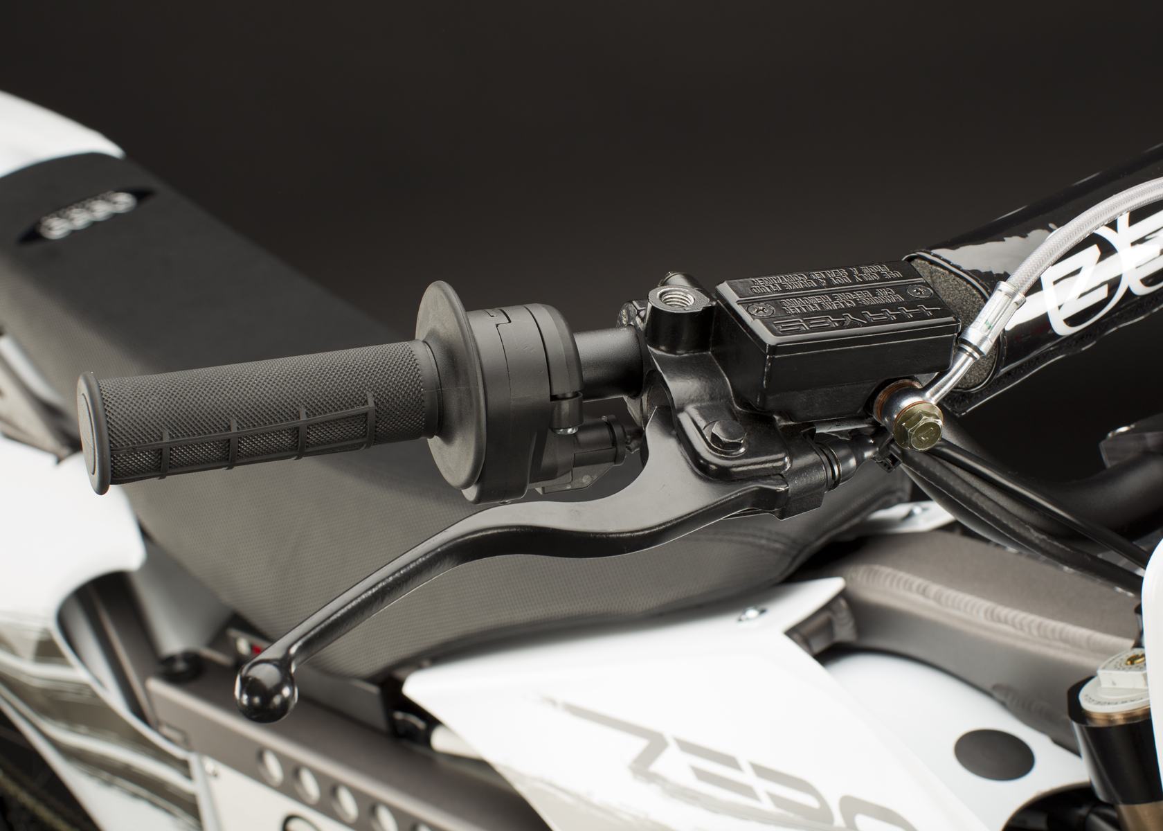 '.2011 Zero X Electric Motorcycle: Front Brake Hand.'