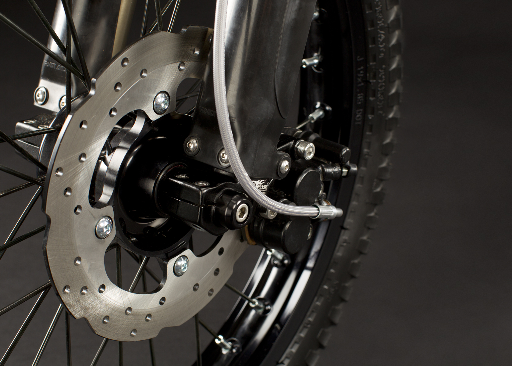 '.2011 Zero X Electric Motorcycle: Front Brake.'