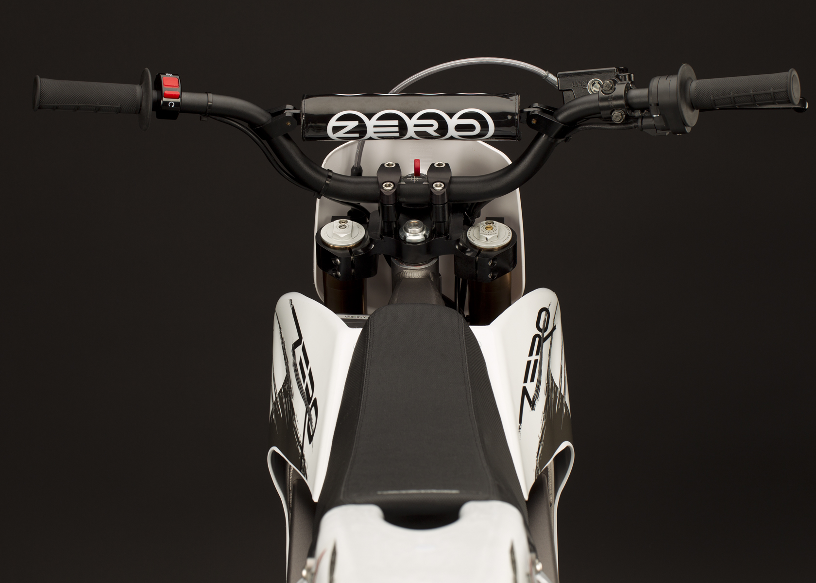 '.2011 Zero X Electric Motorcycle: Handlebars.'