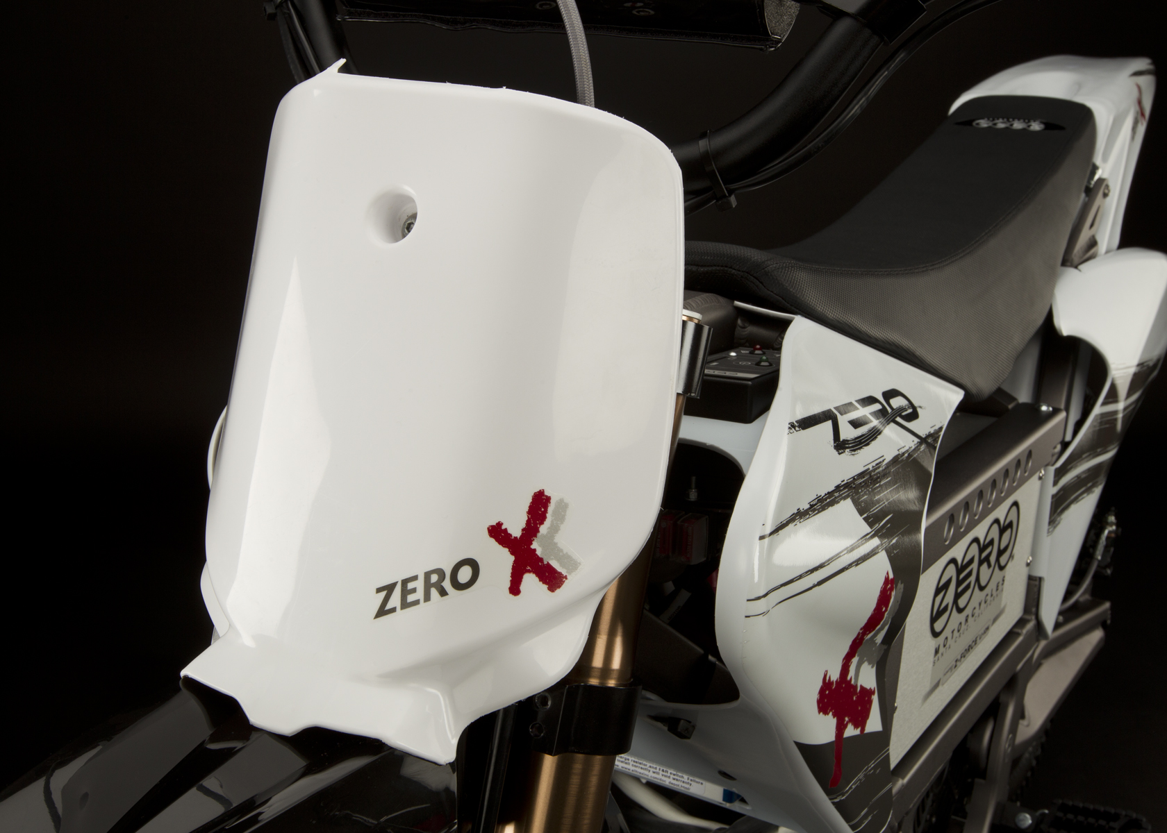 '.2011 Zero X Electric Motorcycle: Number Plate.'