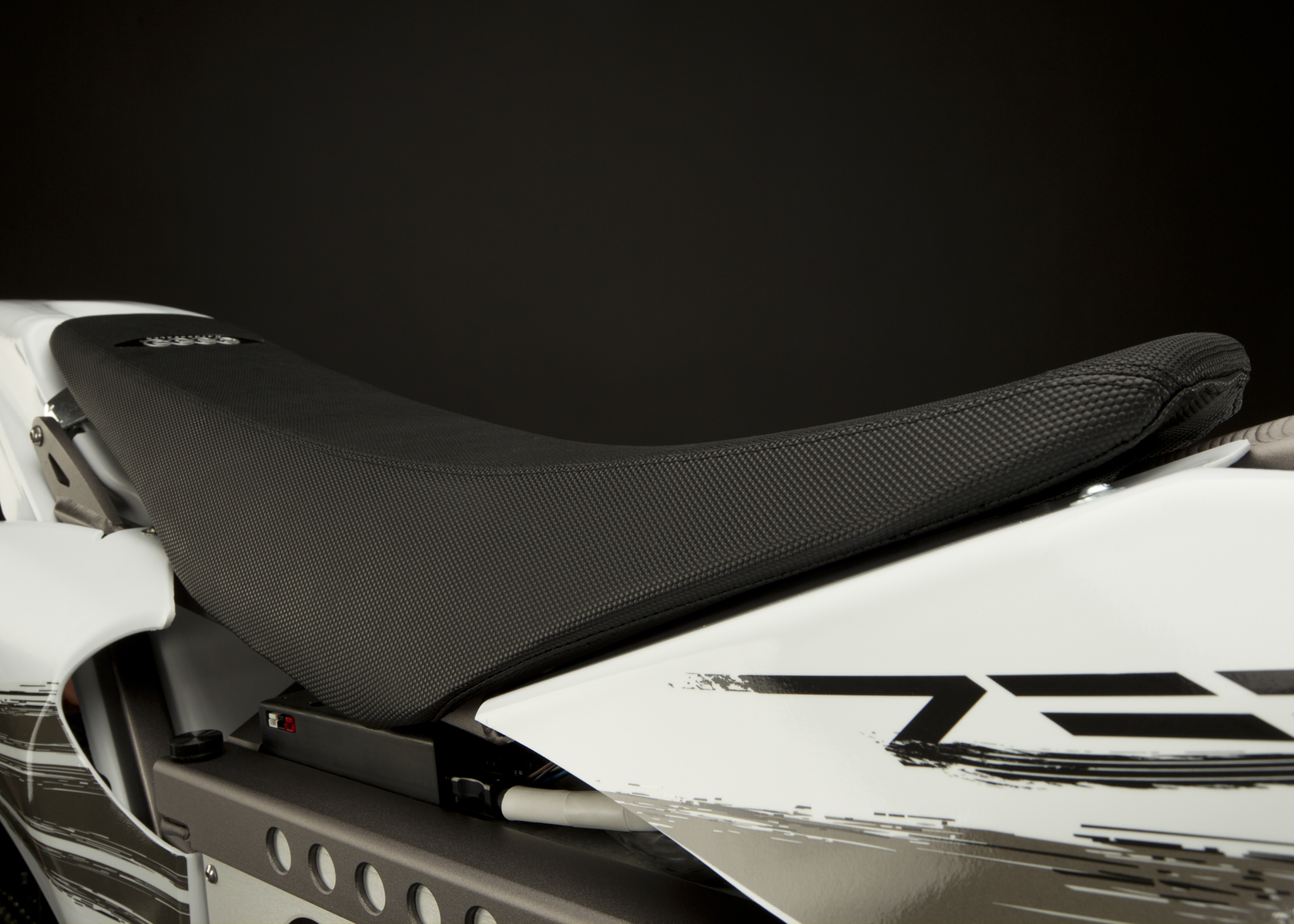 '.2011 Zero X Electric Motorcycle: Seat.'
