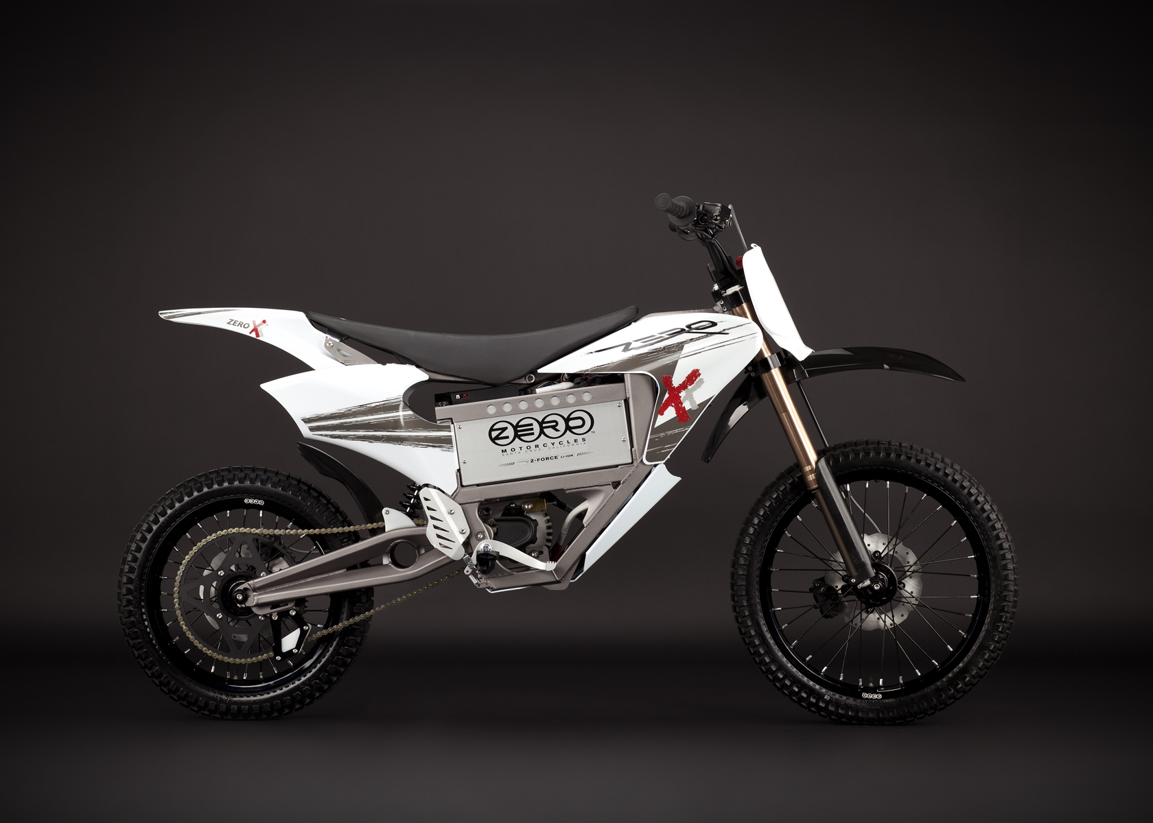 '.2011 Zero X Electric Motorcycle:  Profile Right, Dirt Model.'