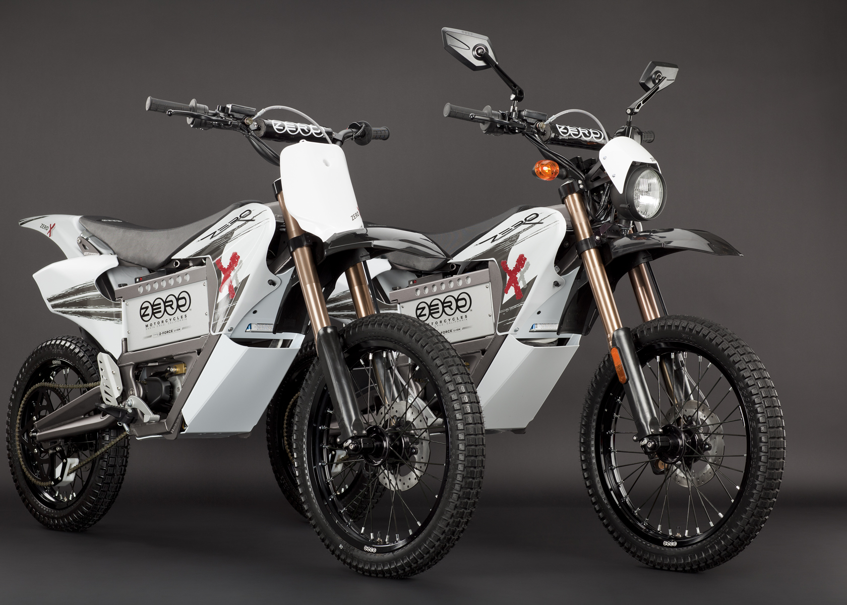 '.2011 Zero X Electric Motorcycle: Pair.'