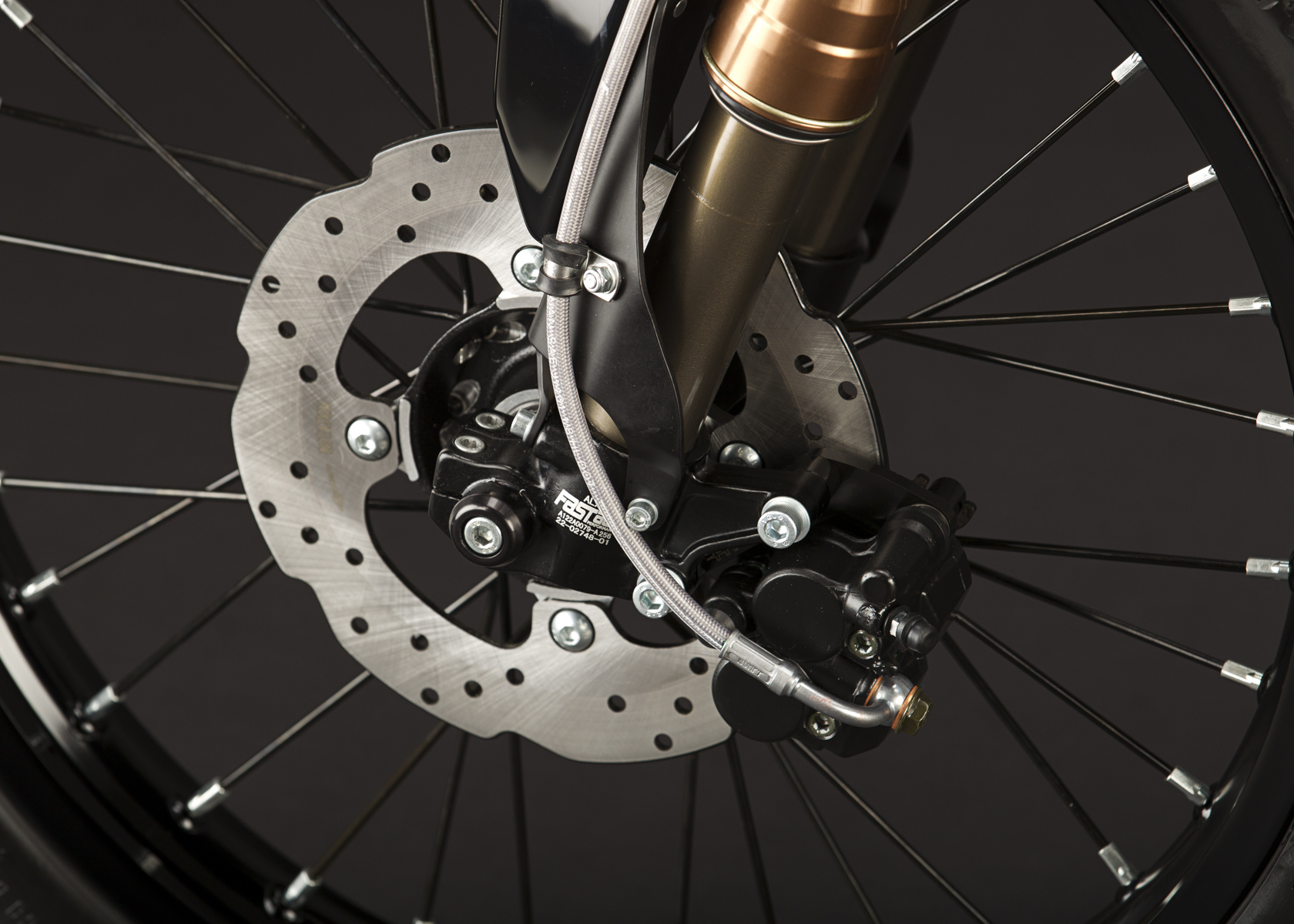 '.2011 Zero XU Electric Motorcycle: Front Hand Brake.'