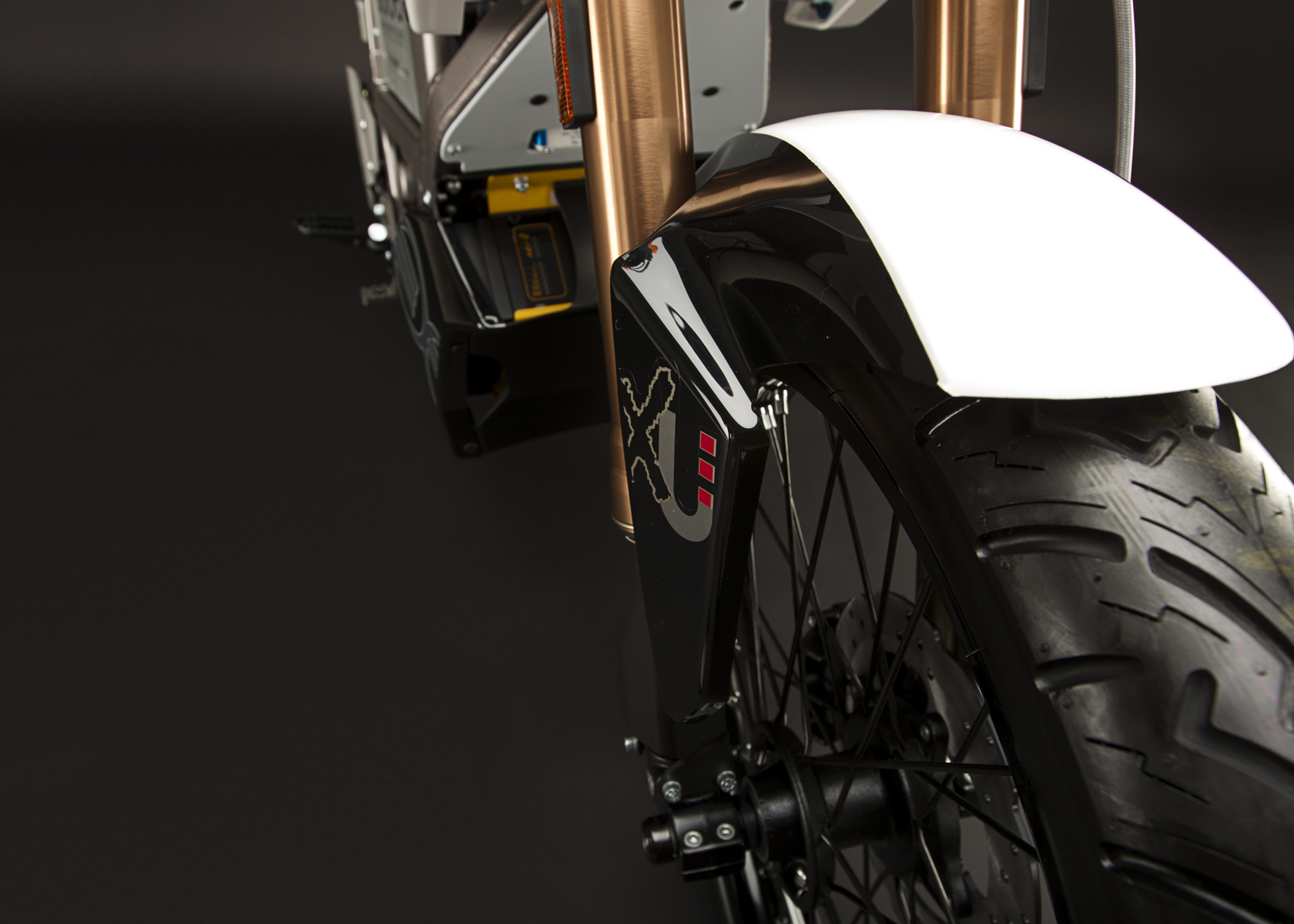'.2011 Zero XU Electric Motorcycle: Front Fender.'