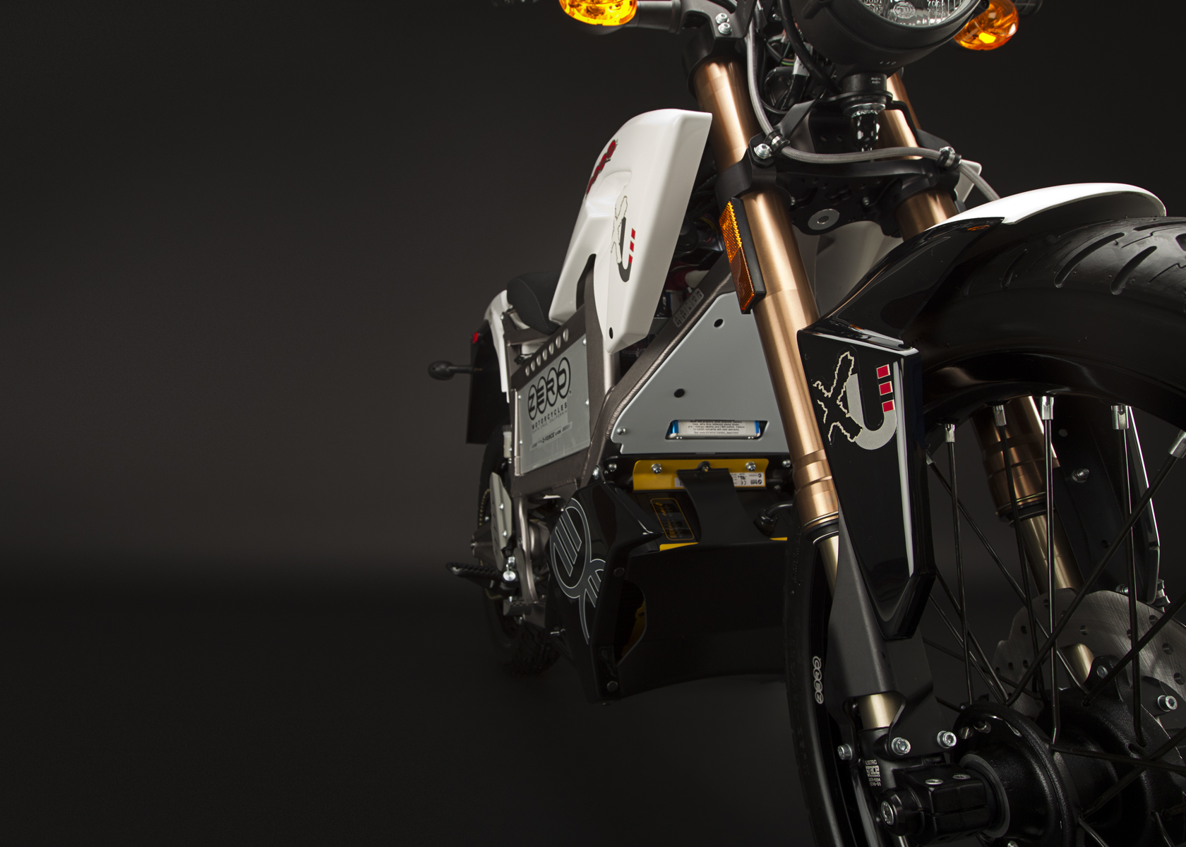 '.2011 Zero XU Electric Motorcycle: Front Fork.'