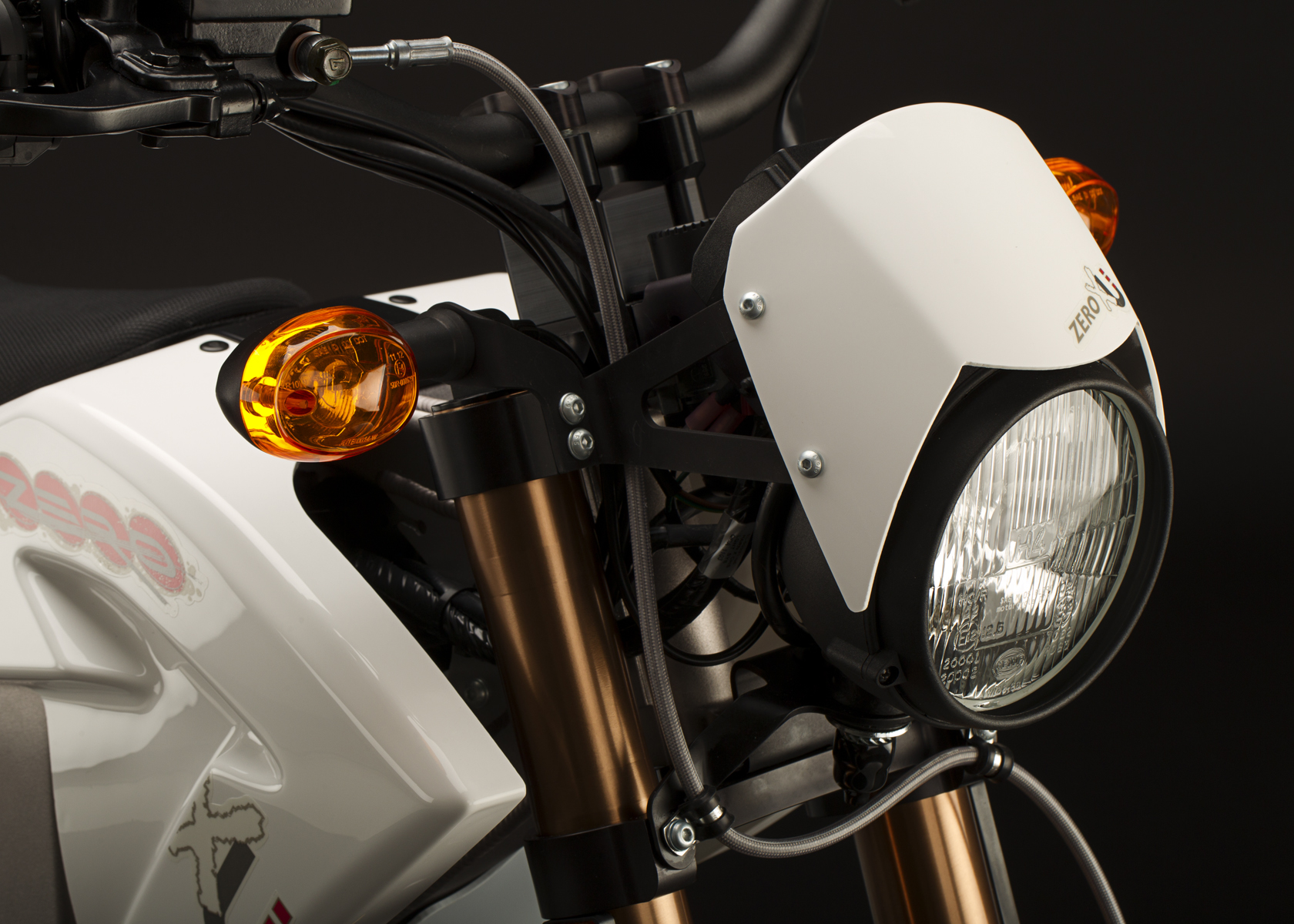 '.2011 Zero XU Electric Motorcycle: Headlight.'