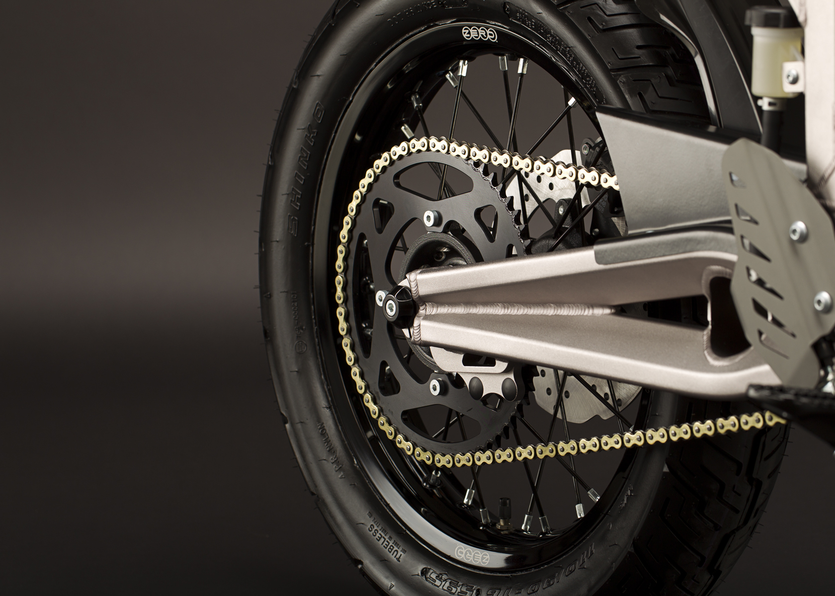 '.2011 Zero XU Electric Motorcycle: Swingarm.'