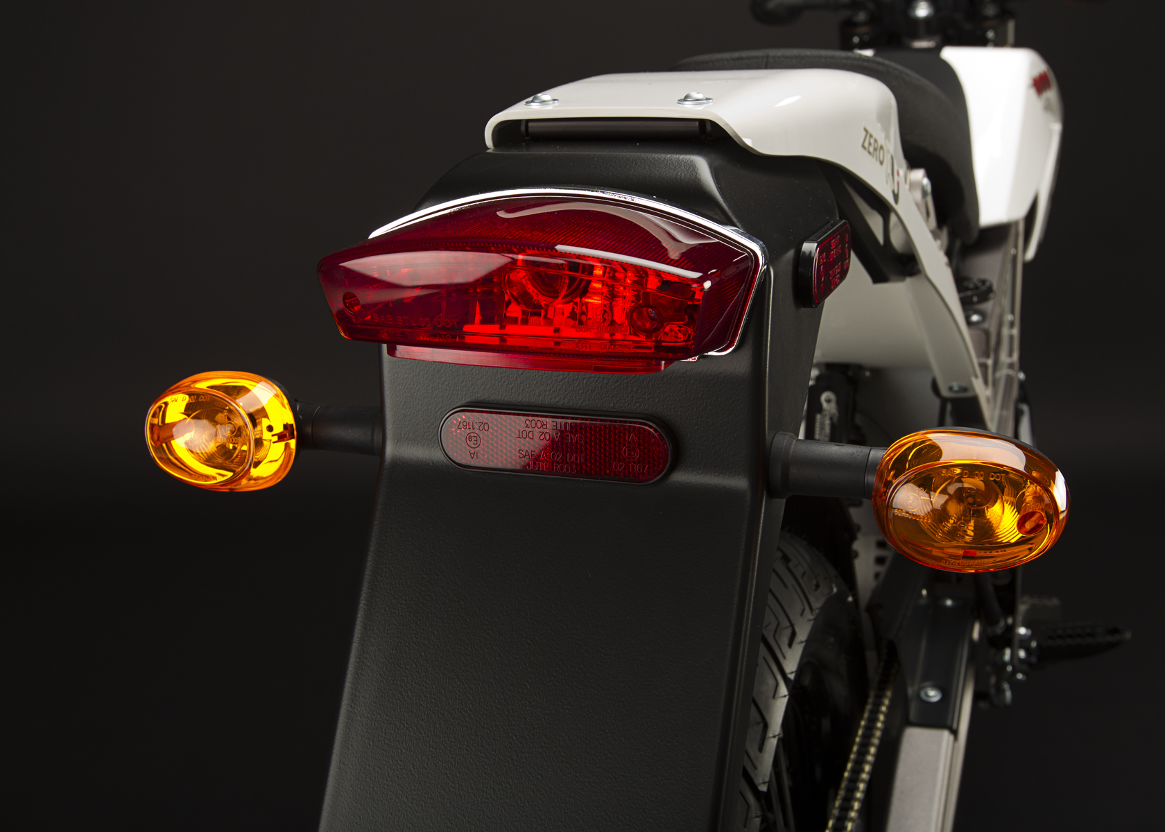 '.2011 Zero XU Electric Motorcycle: Tail Lights.'