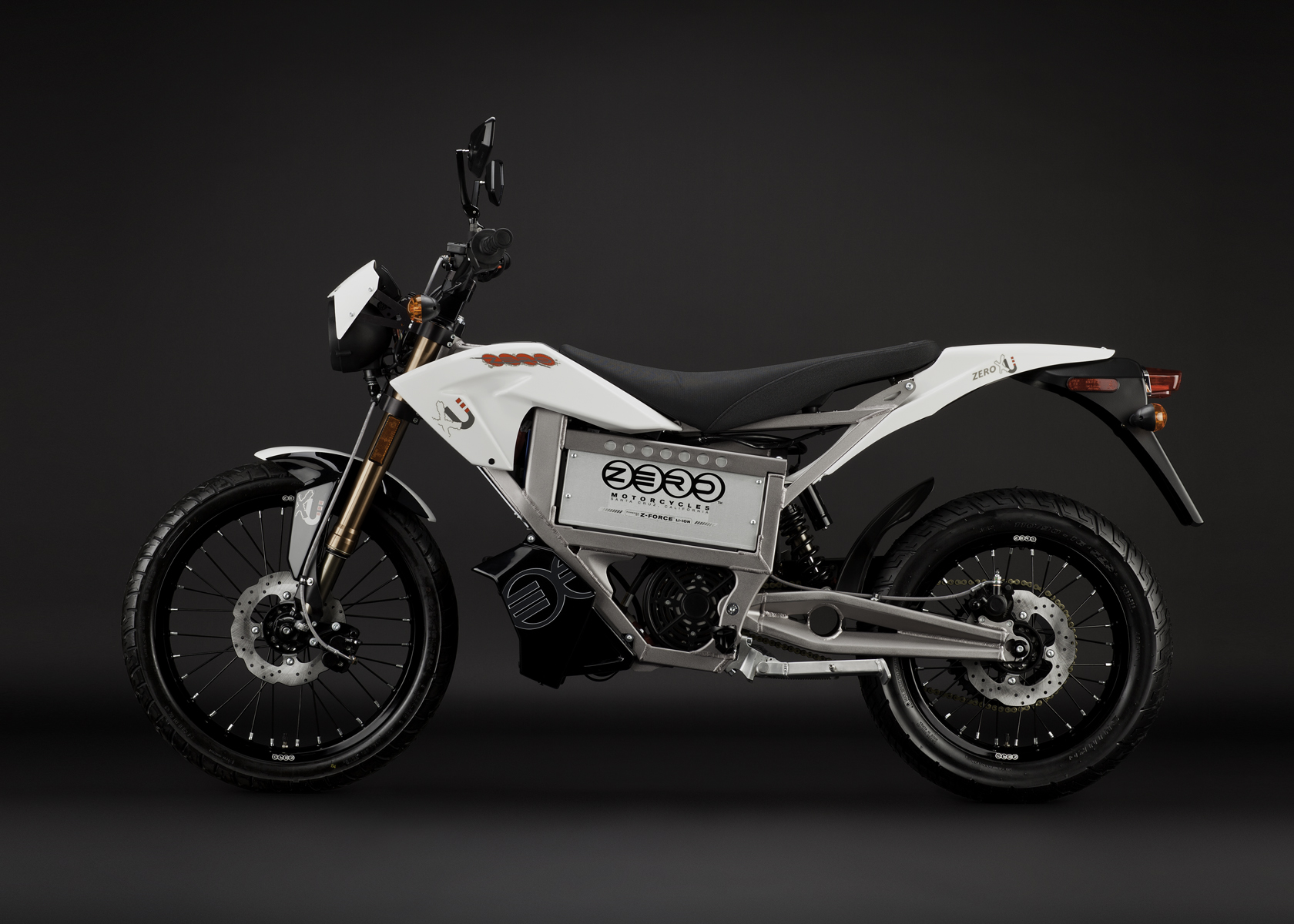 '.2011 Zero XU Electric Motorcycle: Profile Left.'