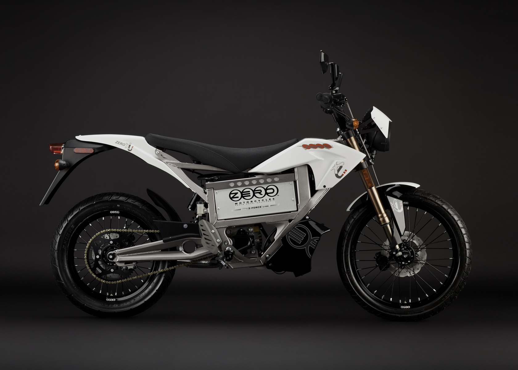 '.2011 Zero XU Electric Motorcycle: Profile Right.'