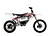 2011 Zero MX Electric Motorcycle: Right Profile, Dirt Model, White Background