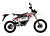 2011 Zero MX Electric Motorcycle: Right Profile, Street Legal Model, White Background
