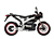 2011 Zero S Electric Motorcycle: Black Profile Right, White Background