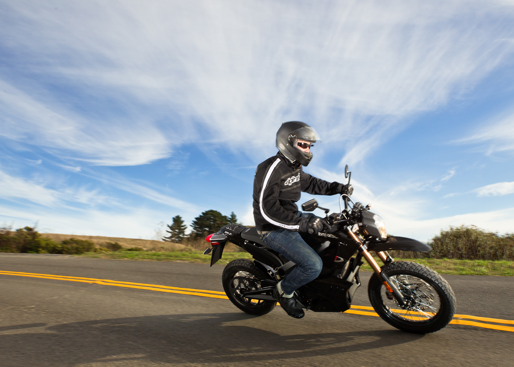 '.2012 Zero DS Electric Motorcycle: Cruising.'
