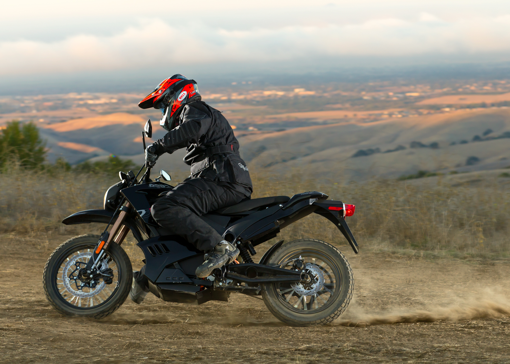 '.2012 Zero DS Electric Motorcycle: On a Dirt Road.'