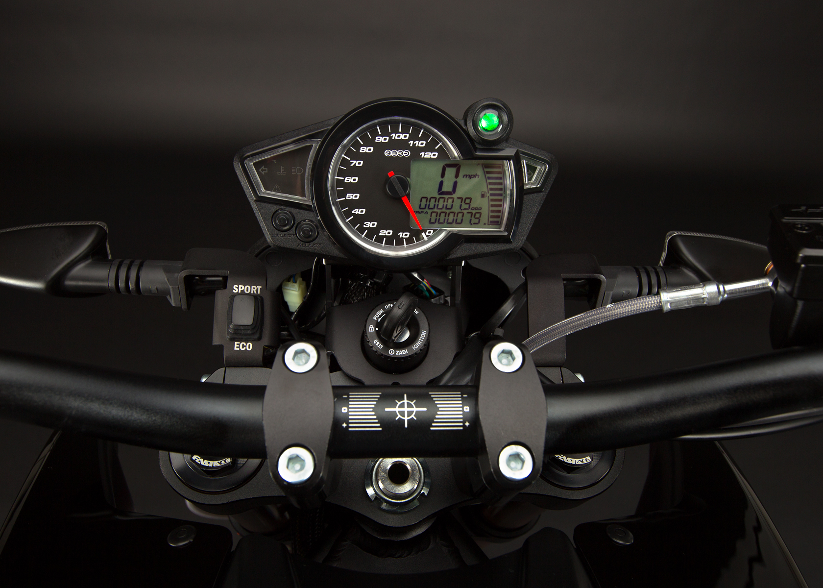 '.2012 Zero DS Electric Motorcycle: Dashboard.'