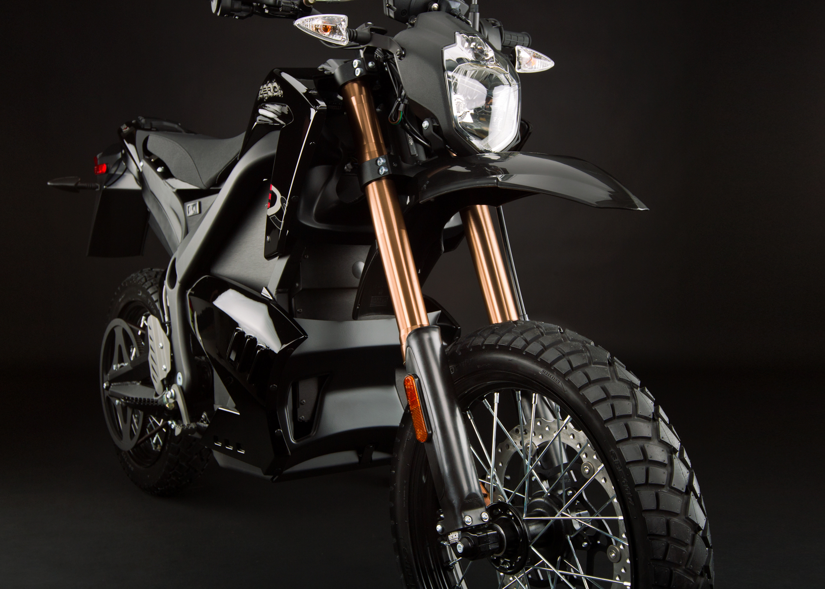 '.2012 Zero DS Electric Motorcycle: Front Fork.'