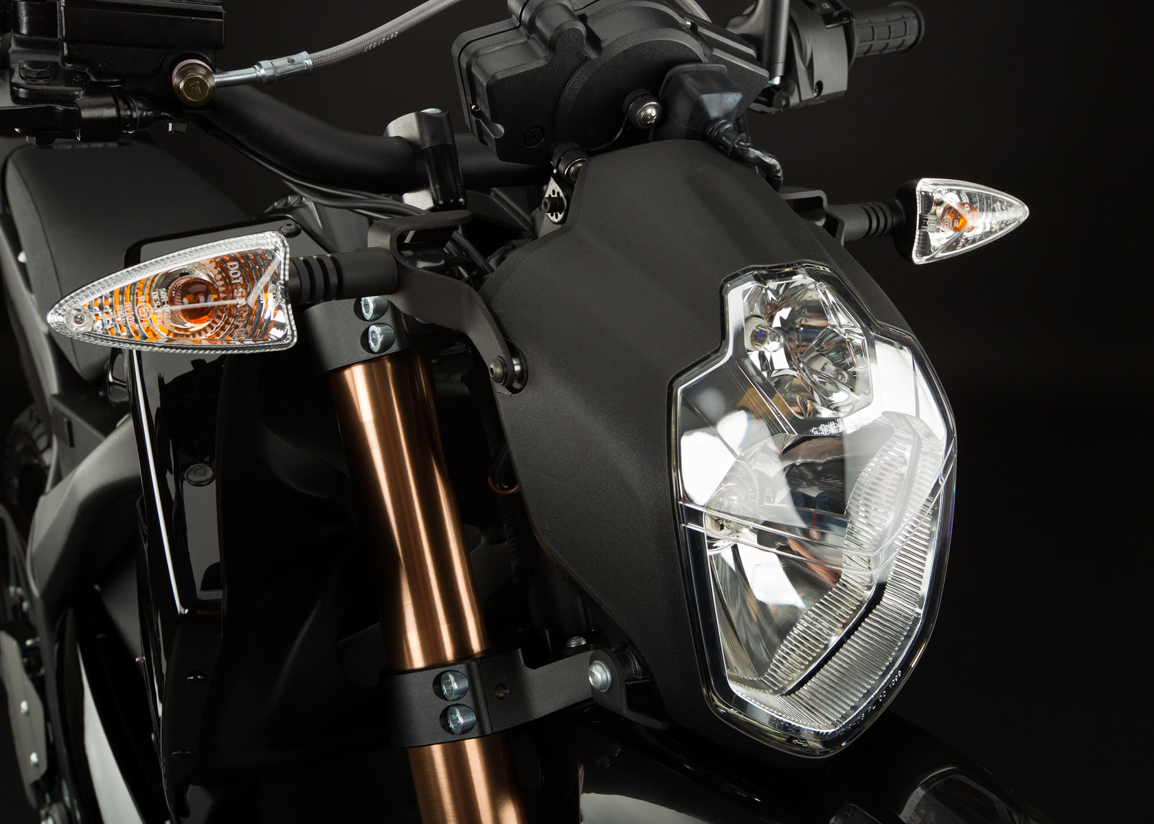 '.2012 Zero DS Electric Motorcycle: Headlight.'