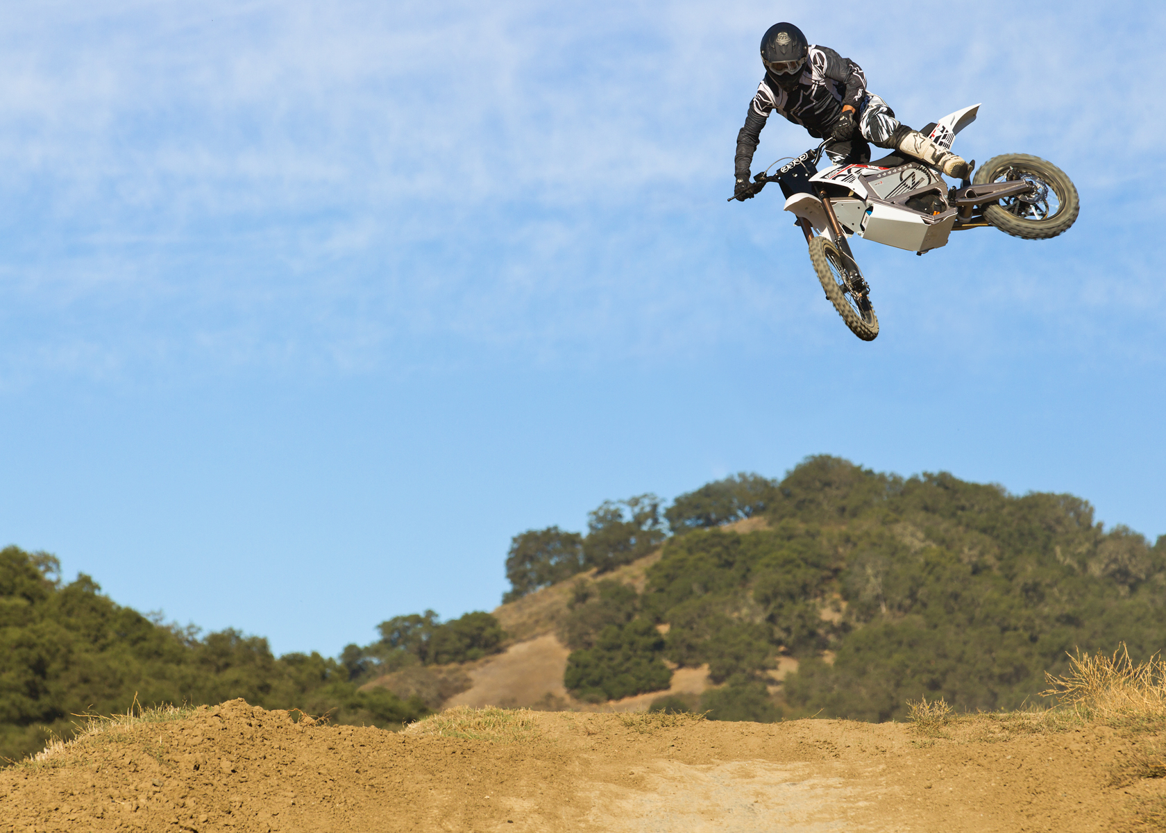 2012 Zero MX Electric Motorcycle: High Jump